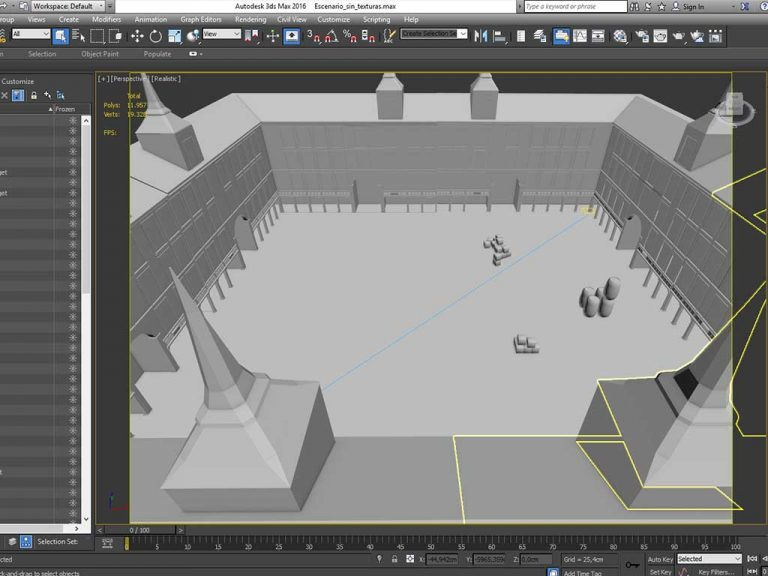 Modelado de una Plaza Mayor en 3d Studio Max