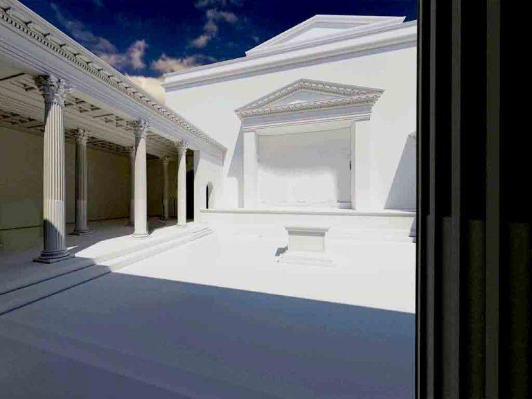 Recreación 3D de un templo romano