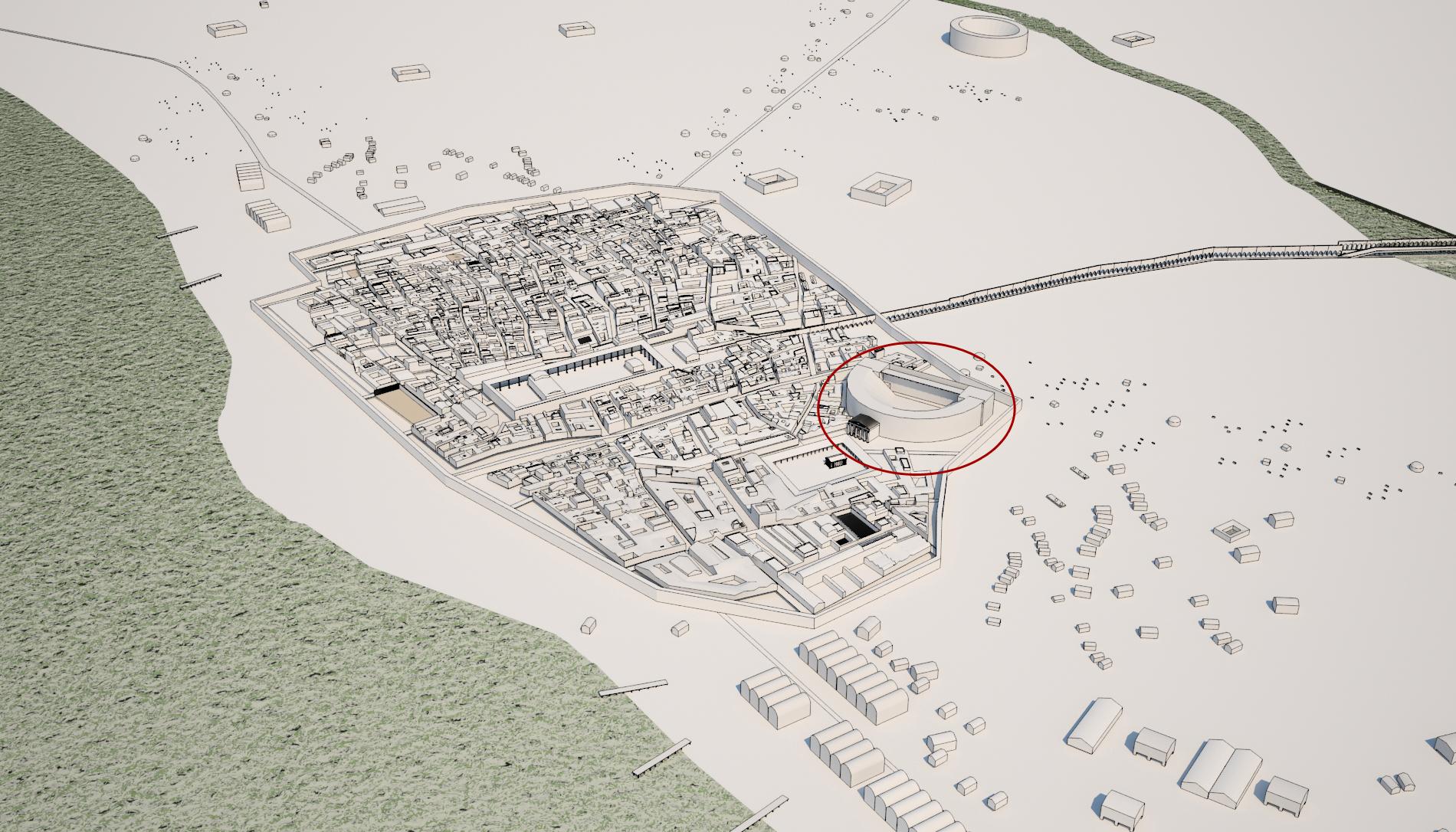 Recreación 3D: Ciudad Romana