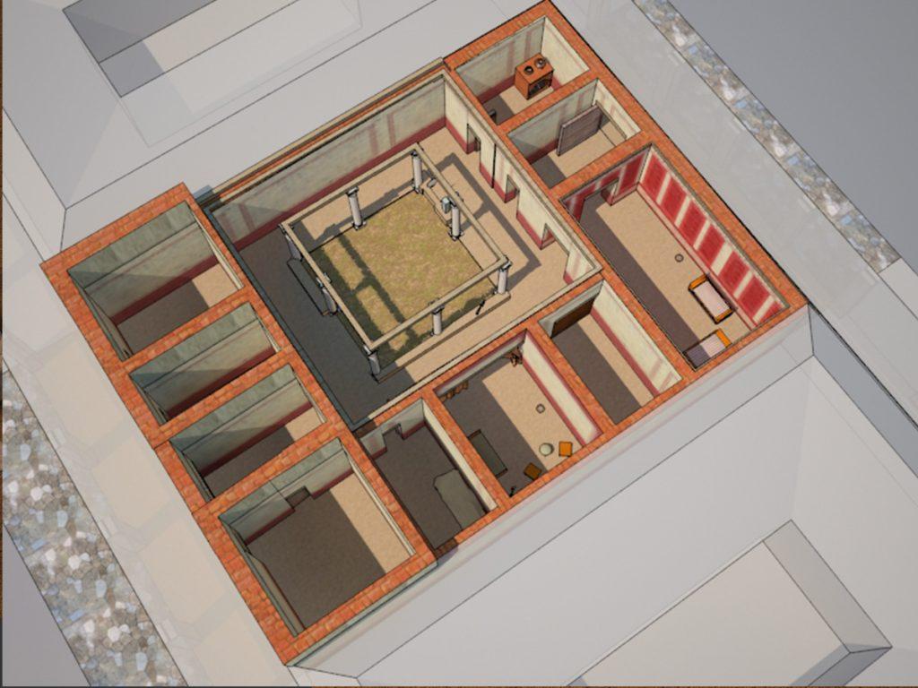 Recreación de una domus romana